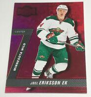 Joel Eriksson Ek /150 Fleer Metal Red Rookie Insert Parallel Hockey Card Wild RC