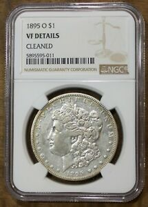 1895 O Morgan Silver Dollar NGC VF Details Cleaned US Coin