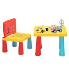 Kid Plastic Table and Chair Desk Set Furniture Activity Toddler Toy Play Home