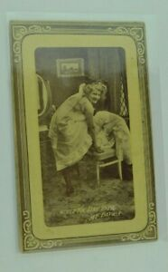 Antique Postcard Couple Man Woman Funny Comical Old Antique Post Card People B35