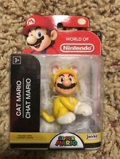 World of Nintendo Super Mario Cat Mario action figure NIB by Jakks Pacific