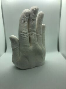 Personal Hand Crafted Bookends Hands Castings 3D Castings Unique Gift Idea