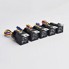 5 Pack Car 30/40 AMP Relay Automotive Harness Socket 5 Wires SPDT 5 Pin DC 12V