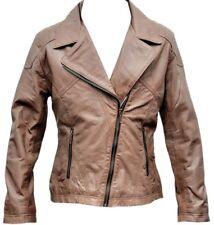 Brando Leather Jacket Biker Style Soft Sheep Leather Fashion Ladies Biker Jacket