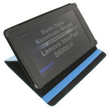Funda para Lenovo IdeaPad s6000-h Enlace Book Style Tableta Protectora Azul