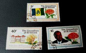 Grenadines of St Vincent  1979 Independence set CTO