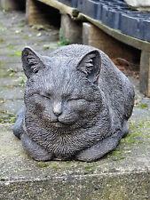 Massive Katze Steinfigur Gartenfigur