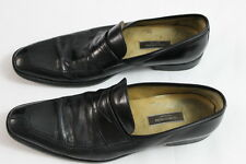 MEN'S NORDSTROM BLACK LEATHER SLIP ON LOAFERS SHOES 10.5 B MADE IN ITALY Duncan