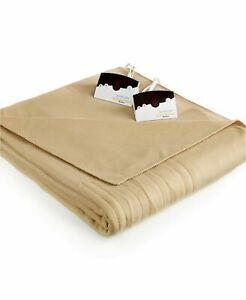 "Biddeford Comfort Knit Fleece Electric Full Blanket Dimensions: 72"" x 84"" NEW"