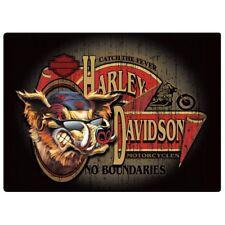 No Boundaries Hog Harley-Davidson Tin Sign Embossed Garage 491