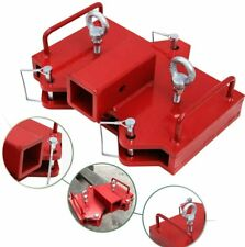 2 Trailer Hitch Receiver Forklift Towing Attachment Fit For Dual Pallet Forks