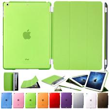 Protective Case IPAD Mini 3 2 1 Pocket Smart Cover+Back Pu-Leather Green