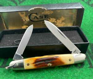 case xx 05263 EISENHOWER knife wow RARE 1980 stag with bail and original box wow