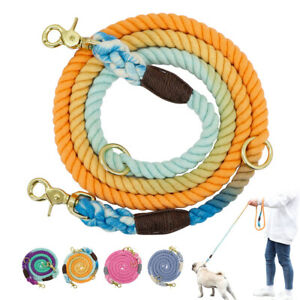 Nylon Dog Lead Pet Puppy Walking Training Lead Strap Belt Cotton Traction Rope