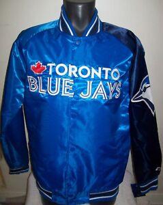 TORONTO BLUE JAYS MLB STARTER Snap Down Jacket Sping/Summer BLUE/NAVY BLUE S M