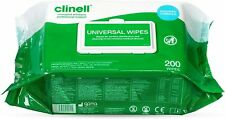 More details for clinell thick universal sanitising disinfectant surface wipes pack of 200