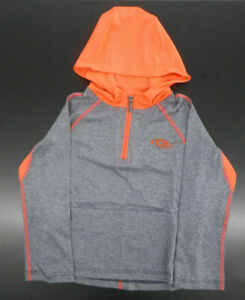 Boys CB Sports $42 Gray & Neon Orange Long Sleeve Hoodie Sizes 4, 5/6 & 7