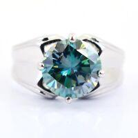7 mm Certifié livraison gratuite 2 CT Blue diamond solitaire Ring-motif fleuri