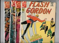 FLASH GORDON #12 TO #15 LOT OF FOUR COMICS FROM CHARLTON COMICS - 12 CENT COVER