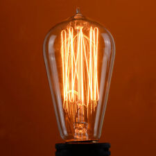 4 Pack 110V 60W Light Bulb Squirrel Cage Filament E26 Base Vintage Retro Edison