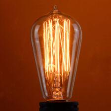 4 Pack 110V 60W Light Bulb Squirrel Cage Filament E26 Base Vintage Retro Edison