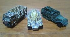 Matchbox Weasel Camo Tank (1973) & Hot Wheels Half Track Gun Bucket (1974)