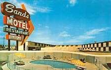 Borger Texas Sands Motel Pool Side View Vintage Postcard K25081