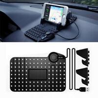 Auto Cellulare Supporto Navigatore GPS Tappetino Regolabile W/Ricarica Cavo USB