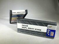 1 BOX OF 10 INSERTS - ISCAR HGPL 4004Y IC908