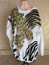Plumo Vintage Jaguar Paw Light Weight Long Sleeve Sweatshirt Size L Made Usa