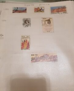 7 used stamps of South Africa 1983 - 1986