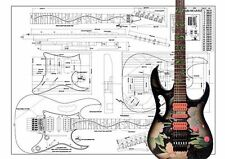 Ibanez JEM® Full scale Electric Guitar Plan