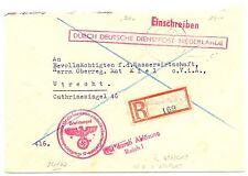 NEDERLAND 1944   Reg Brief DDP NIEDERLANDE UTRECHT