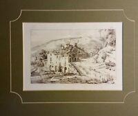 Coppia Incisioni all'acquaforte Castellammare di Stabia dintorni 1845 A. Gigante