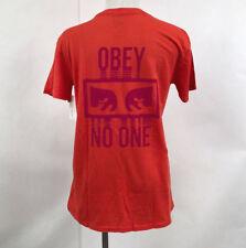 Obey Women's T-Shirt No One Poppy Size S NWT Shepard Fairey