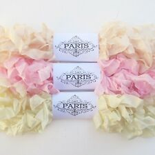 NEW Scrunched Seam Binding Rayon Ribbon-Scrapbooking- Blush-Pink- Ivory-15 yards