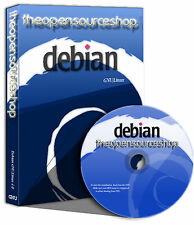 Debian Linux 9.0.1 (Stretch) Live Bootable DVD + Free Random Retro Linux CD