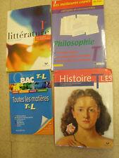 Lot de 4 livres pour préparer le BAC L  / ES