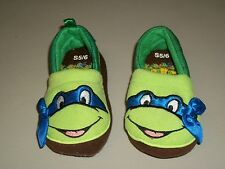 TMNT Teenage Mutant Turtles LEONARDO Leo Child Toddler 5/6 Bedroom Shoe Slippers