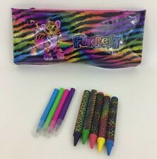 Forrest Pencil Case with Crayons and Markers Rainbow Tiger Lisa Frank 2015