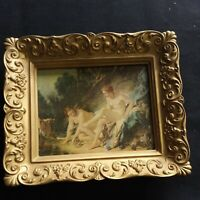 Vintage Portrait Wall Art Decor Framed Picture Nude Hunt