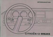 Citroen CD breaks 20/23 Manuel 1974 mode d'emploi manuel BA