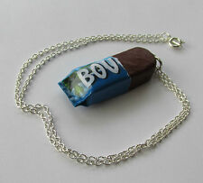 Handmade Funky Kitsch Bounty Coconut Bar Chocolate Sweet Inspired Chain Necklace