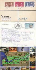 XX4395 Gambia 5 covers postcards  1937 onwards