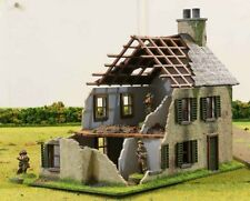 28mm MDF WWII model building Normandy Farmhouse Ruined