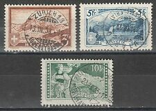 SWITZERLAND 1928 HIGH VALUE PICTORIAL SET USED