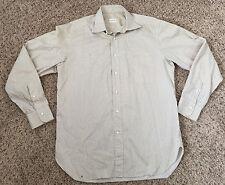 ERMENEGILDO ZEGNA Brown Striped Dress Shirt 39 15.5 x 35
