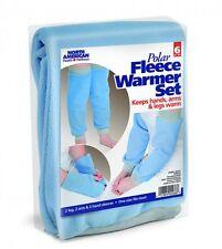 6pc Polar Fleece Warmers Hands Arms Legs Warm Universal Soft Comfrotable Sports