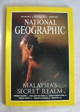 """National Geographic Magazine August 1997 """"Malaysia's Secret Realm"""""""