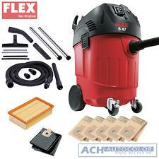 Flex Industriesauger S 47 336912 inkl. 5 original FLEX Filtersäcke + Zubehör